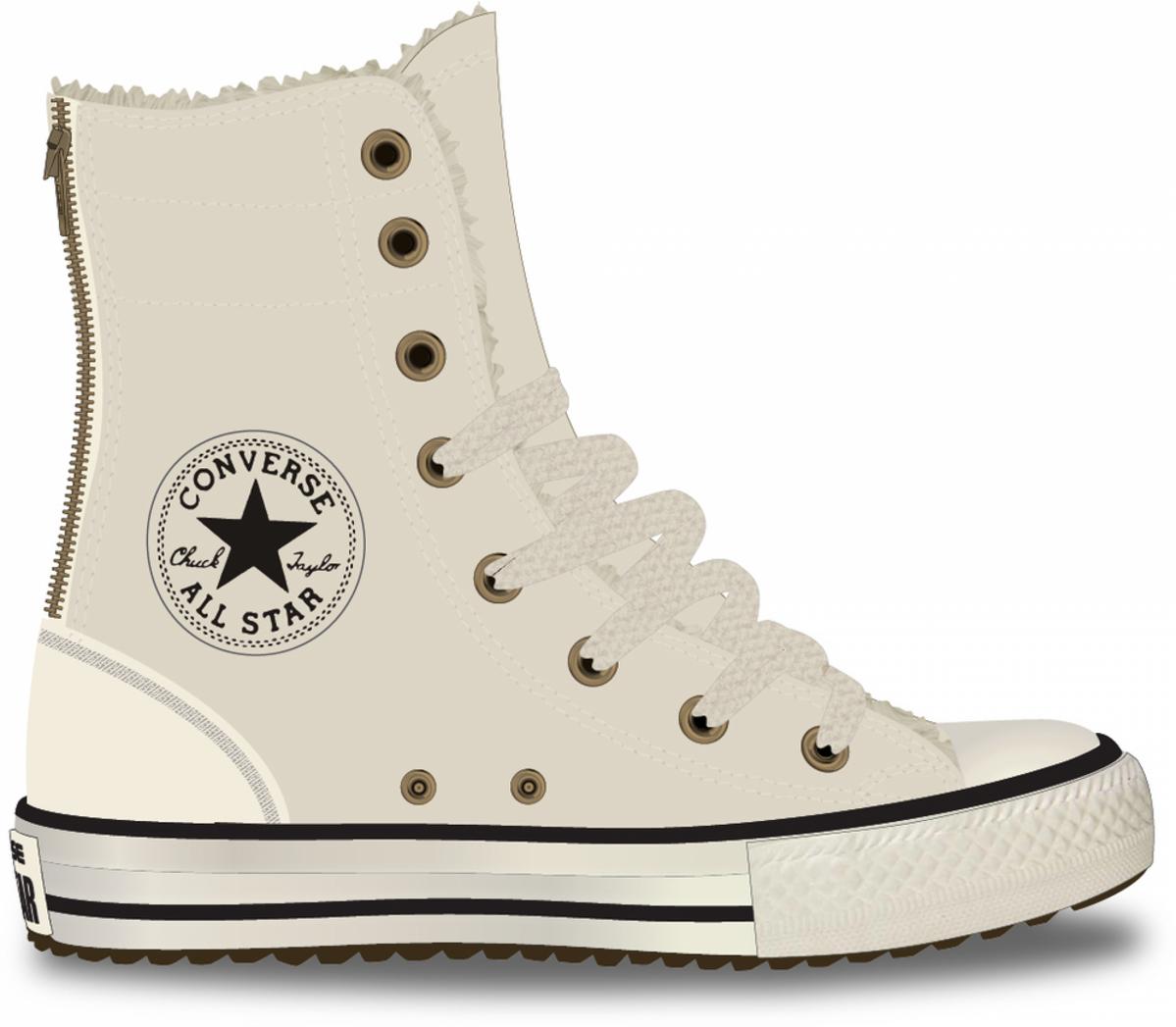 Converse Detské Tenisky Chuck Taylor All Star Hi Rise Boot X-Hi Parchment  Junior 32afc723802